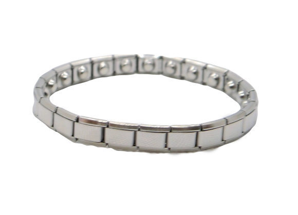 Ladies Stainless Steel Expanding Bracelets: Silver