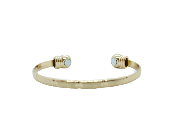 Ladies Bangles: Gold Plated