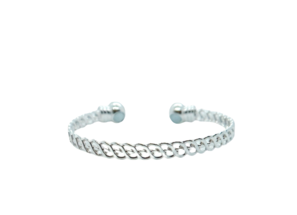 Ladies Bangles: Silver Plated