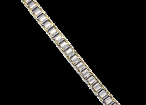 Men's Titanium Bracelets: Gold/Silver