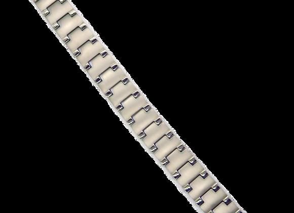 Men's Titanium Bracelets: Silver