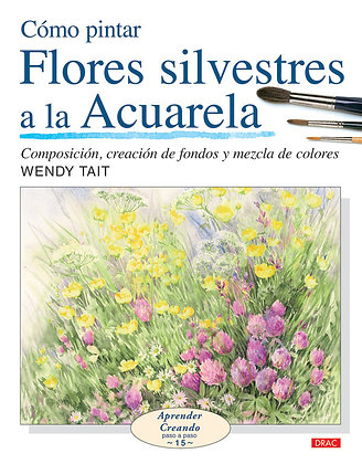 Flores silvestres a la acuarela