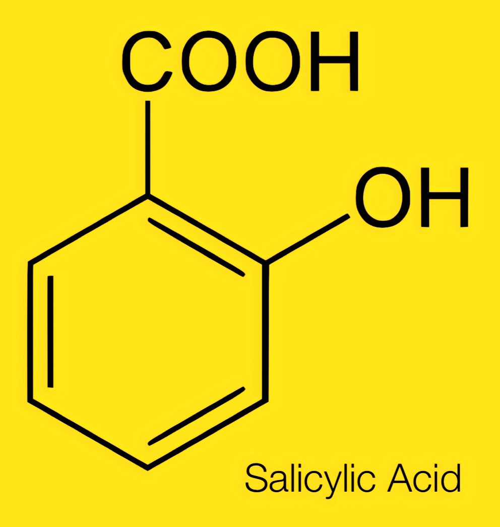 Molecular structure of salicylic acid