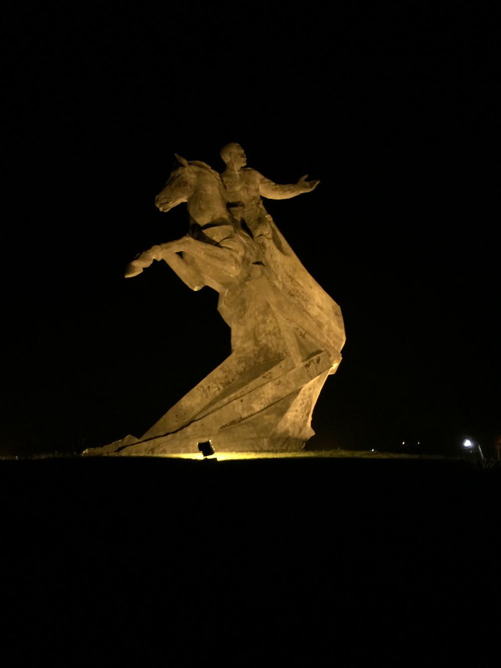 A Beautiful Sculpture with Beautiful Lighting