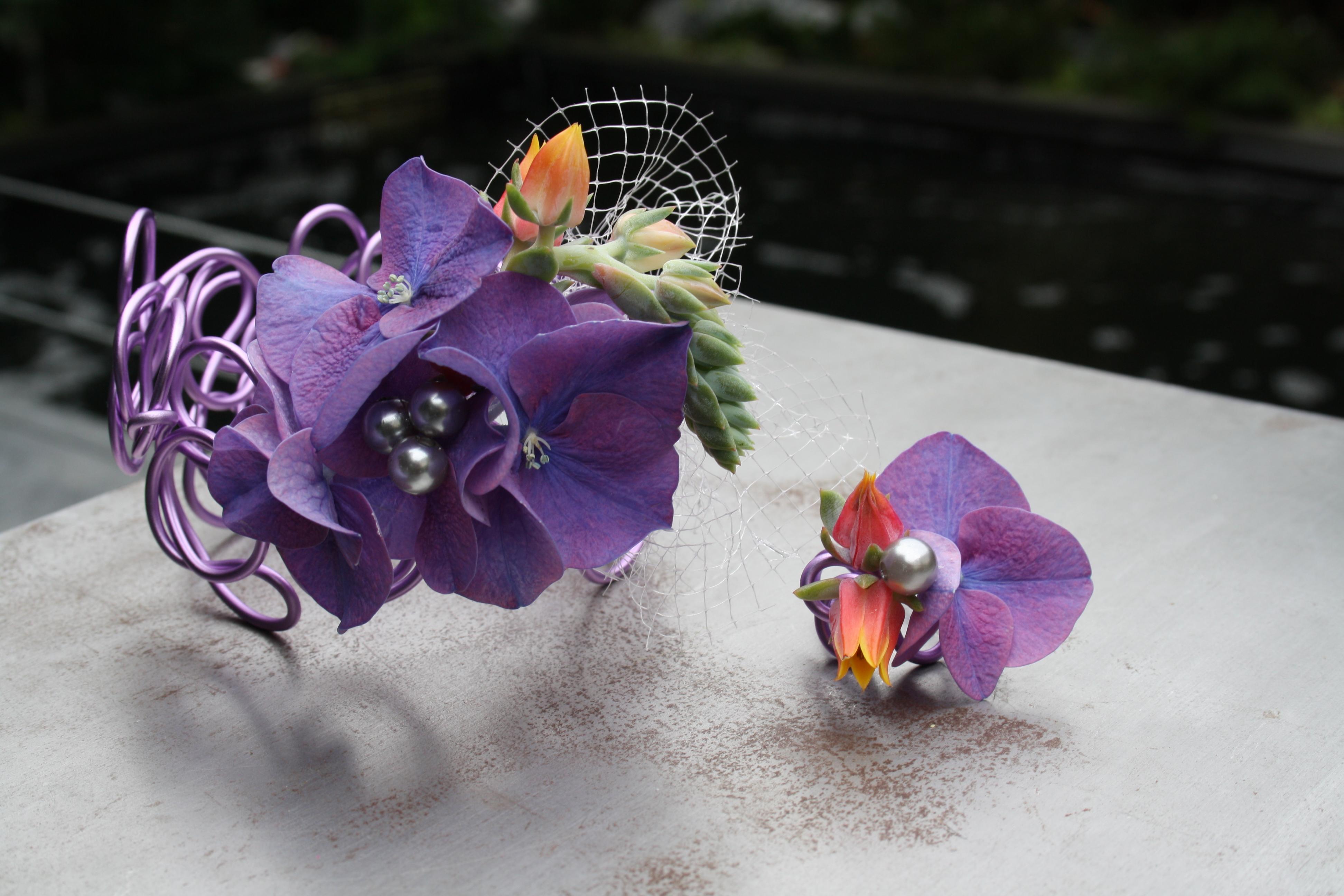 Florale bruidssierraden