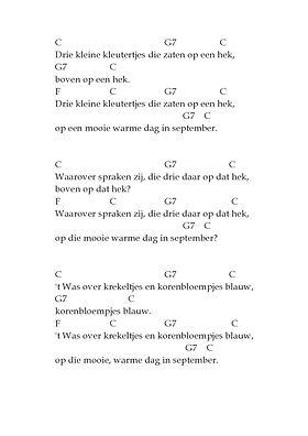 Geliefde ukjesmuziek | drie kleine kleutertjes @AK44