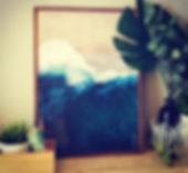 EVOKE artwork and plants