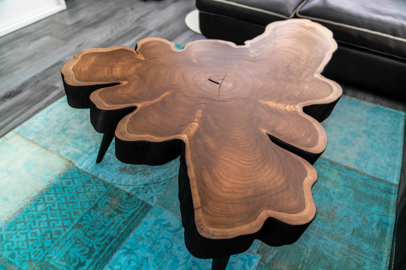 Salontisch Teak Holz Glas Stein Metall Designed By Nature