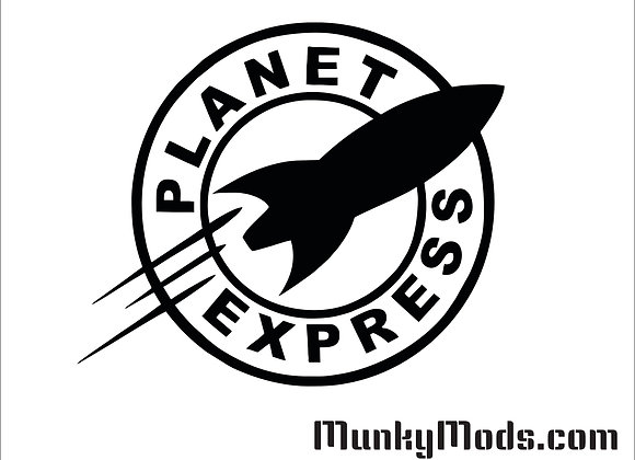 Futurama Planet Express Decal / Applique - Large