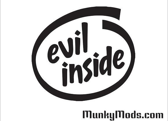 Evil Inside Logo Decal / Applique - Large