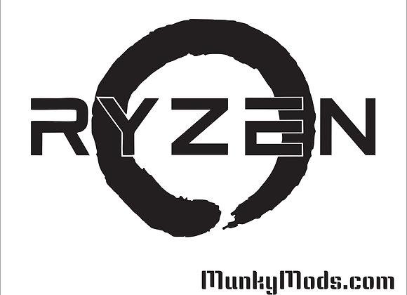 AMD RYZEN Logo Decal / Applique - Large