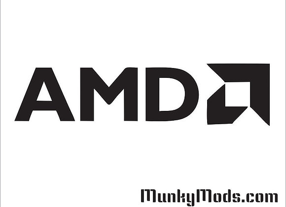 AMD Logo w/Text Decal / Applique - Large