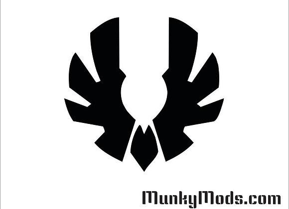 Bitfenix Wing Logo Decal / Applique - Large