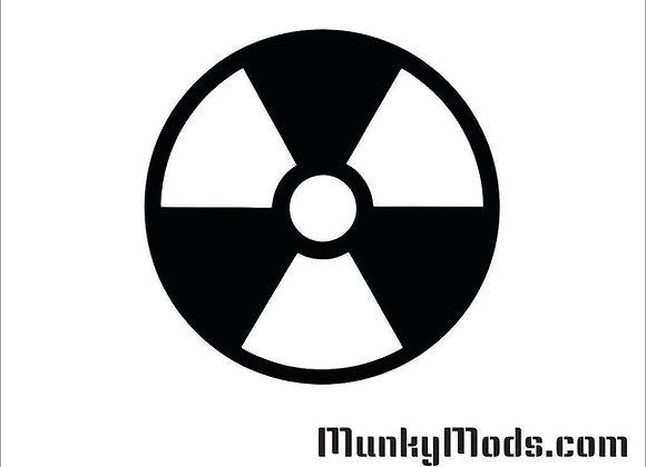 Radiation / Radioactive Decal / Applique - Large