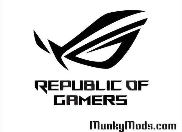 Asus ROG Logo w/Text Decal / Applique - Large