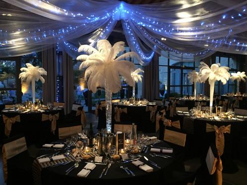 chapiteau en organza blanc avec guirlandes lumineuses vente et location d coration mariage. Black Bedroom Furniture Sets. Home Design Ideas