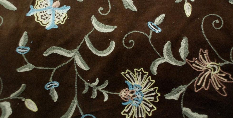 Kashmiri Garden Fabric - Crewel Fabric