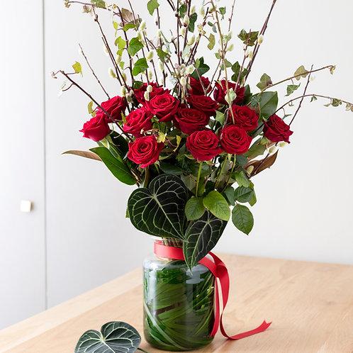 Bouquet de roses rouges pour la Saint-Valentin