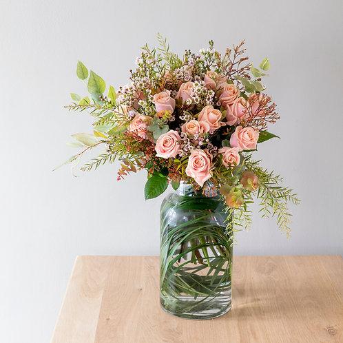 Bouquet de roses champêtre pour la Saint-Valentin