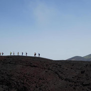 hiking the crater