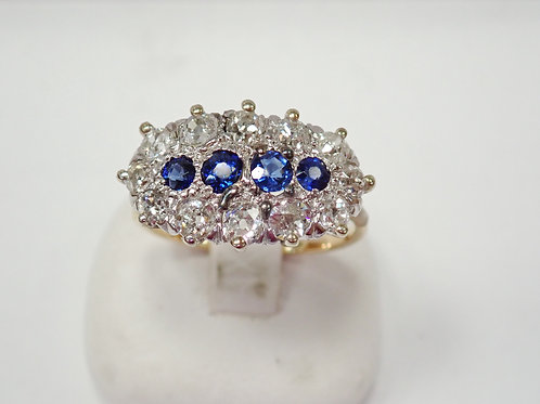 15ct synthetic  sapphire & diamond ring c. 1900