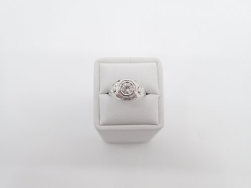 18CT W/G DIAMOND RING