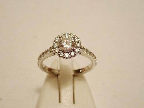 14CT DIAMOND HALO RING