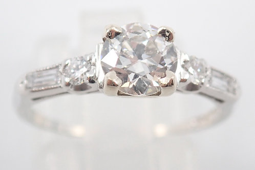 PLAT 0.75CT DIAMOND RING