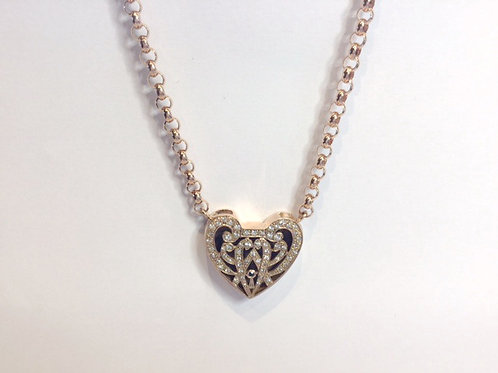 9CT DIAMOND HEART LOCKET