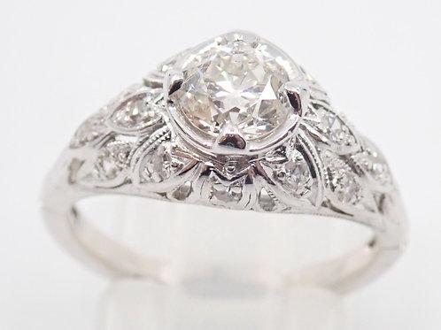 14CT & PLATINUM 0.75CT DIAMOND RING