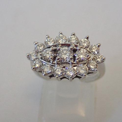 14CT DIAMOND CLUSTER RING