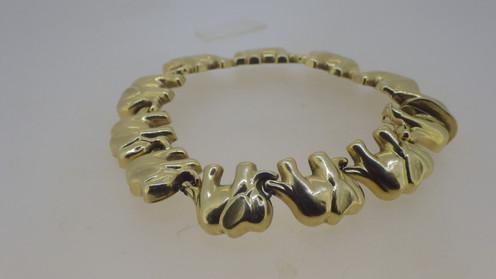 14CT GOLD ELEPHANT BRACELET
