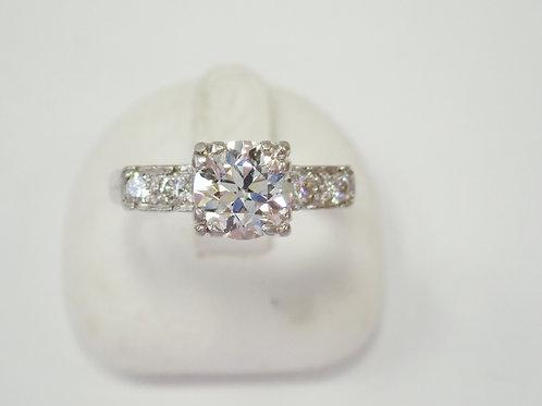 PLATINUM 1.10CT DIAMOND RING