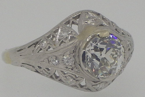 14CT 0.80 CARAT SOLITARE DIAMOND RING