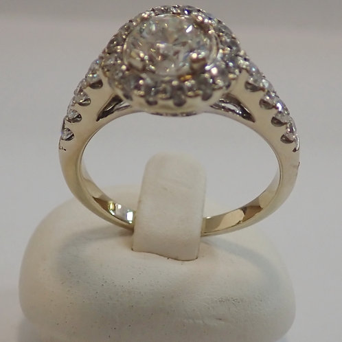 14CT 1.05 CT DIAMOND CLUSTER RING