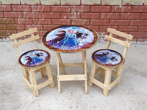Conjunto Mesa e 2 Cadeiras Frozen