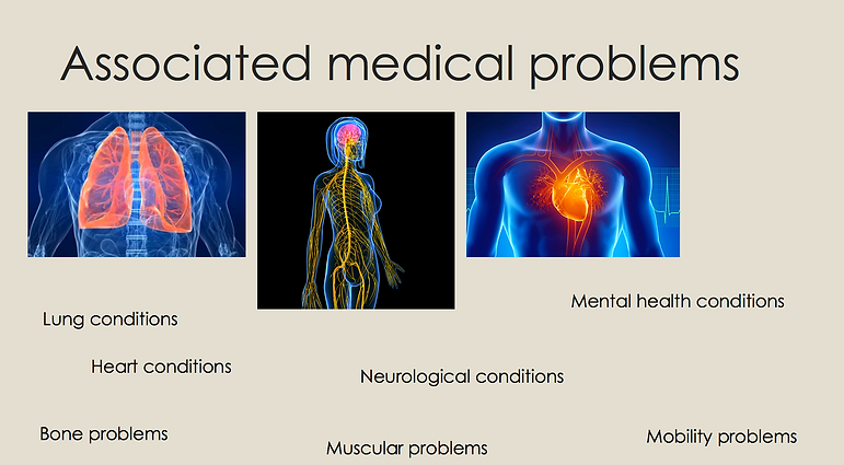 Problems associated with scoliosis RCASs