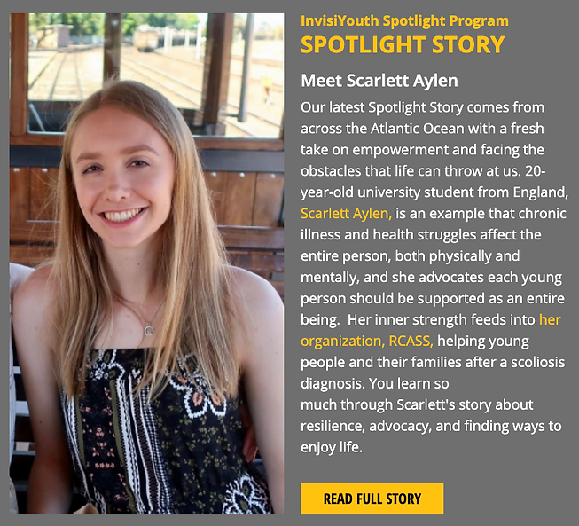 Invisiyouth spotlight story programme
