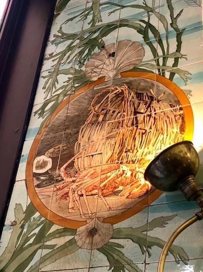 Mosaïque de Sarreguemines du restaurant