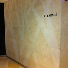Wall feature at Ion Orchard