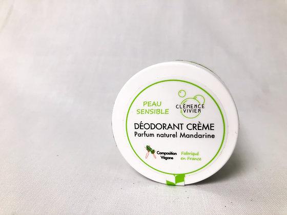 Déodorant crème parfum naturel mandarine