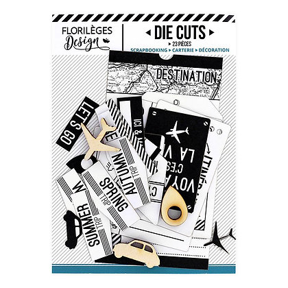 "Die Cuts Blanc Capsule ""TICKET VOYAGE"""