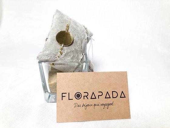 Bracelet Florapada en forme de coquillage