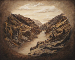 Canyon in Sepia