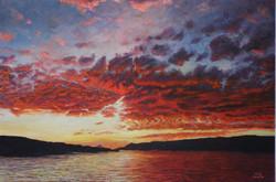 Sundown on the Columbia