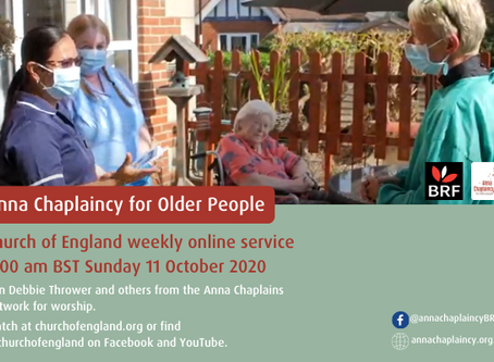 We present this Sunday's Church of England online service - focusing on care homes