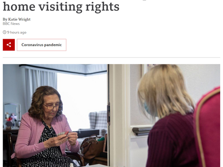 Visiting rights in care homes - what's really  happening?