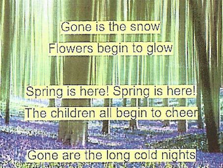 Children catching the mood of spring