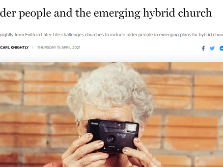 Where older people fit into churches embracing all things digital...