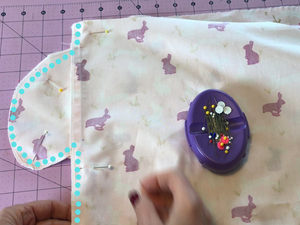 Sewing the side seams